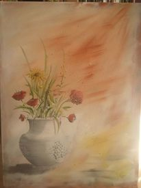 Vase, Blumen, Trauben, Weintrauben