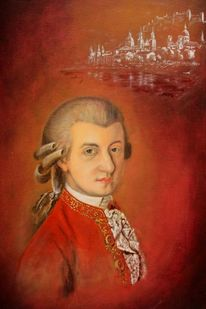 Salzburg, Ölmalerei, Mozart, Mozartstadt