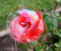 Seifenblasen, Rot, Rose, Malerei