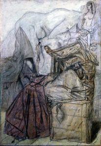 Christo, Stuhl, Malerei