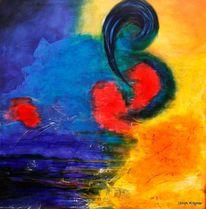 Acrylmalerei, Bewegung, Spannung, Fortschritt