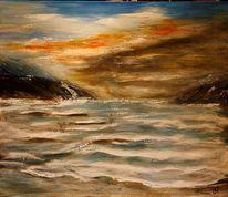 Bewegung, Küste, Landschaft, Acrylmalerei