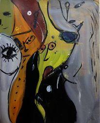 Abstrakt, Acrylmalerei, Tänzerinnen, Tänzer