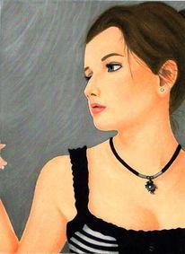 Geschenk, Portrait, Freundin, Malerei
