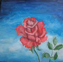 Liebe, Blumen, Umarmung, Rose