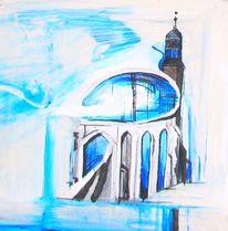 Treppe, Kreuz, Glockenturm, Jesus