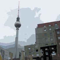 Kunstdruck, Abstrakt, Berlin, Abstrakte kunst