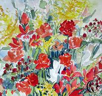 Blumen, Aquarellmalerei, Malerei, Pflanzen