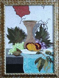 Stillleben, Textil, Mosaik, Textilmasaik