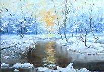 Wald, Landschaft, Winter, Natur