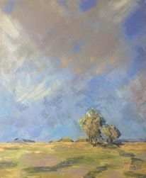 Impressionismus, Landschaft, Sonne, Baum