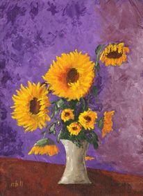 Licht, Acrylmalerei, Schatten, Blumen