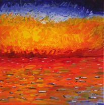 Meer, Licht, Impressionismus, Abendstimmung