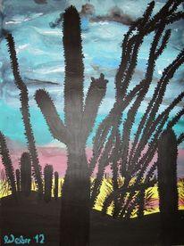 Kaktus, Wüste, Kerzensträucher, Steppe