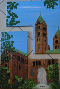 Dom, Speyer, Kathedrale, Springbrunnen