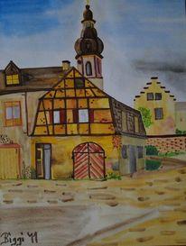 Walmdach, Fachwerk, Katzenmutterhaus, Altstadt