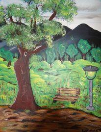 Baum, Landschaft, Berge, Pampa