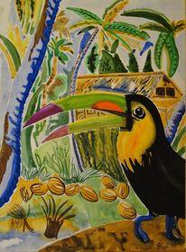 Südamerika, Südamerikanischer, Vogel, Urwald