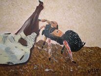 Vogelspinne terra mater, Malerei
