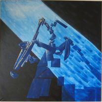 Saxofon, Kubismus, Rampenlicht, Musik