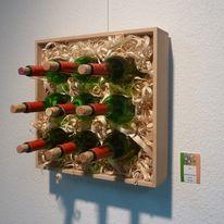 Kasten, Holz, Wein, Flasche
