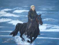 Pony, Ferien, Strand, Pferde