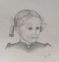 Kind, Grafit, Mädchen, Zeichnung
