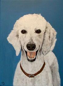 Acrylmalerei, Tiere, Hund, Malerei