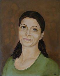 Frau, Acrylmalerei, Portrait, Studie