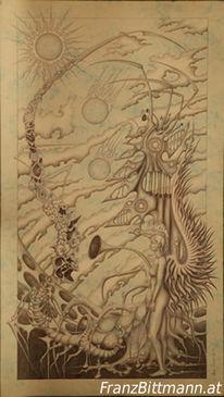 Engel, Phantastischer realismus, Zeichnung, Zeichnungen