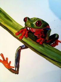 Tiere, Frosch, Bunt, Malerei