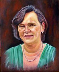 Portrait, Frau, Malerei