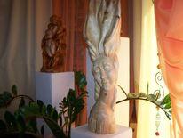 Holz skulpture, Kunsthandwerk, Holz, Ausstellung