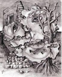 Fantasie, Fantasie frau, Zeichnungen, Leben