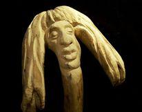 Mann, Menschen, Skulptur, Holz skulpture