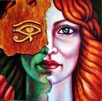 Menschen, Fantasie frau, Portrait, Malerei