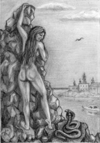 Frau, Fantasie frau, Menschen, Zeichnungen