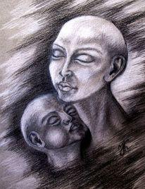Kind, Menschen, Frau, Portrait