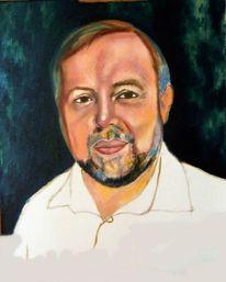 Mann, Portrait, Malerei, Schritt