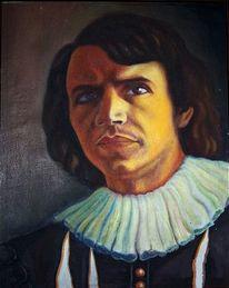 Mann, Selbstport, Portrait, Malerei