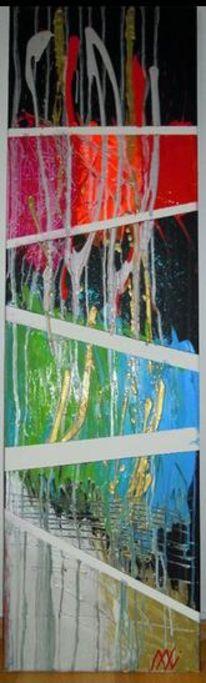 Farben, Acrylmalerei, Bunt, Abstrakt