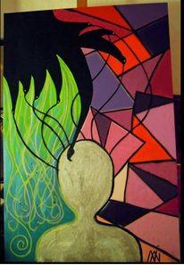 Struktur, Abstrakt, Kontrast, Malerei