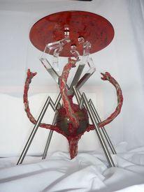 Tisch, Designmöbel, Verfall, Edelstahl