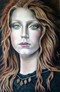 Klassisch, Portrait, Ölmalerei, Figurativ