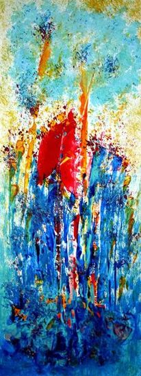Mohn, Abstrakt, Malerei,