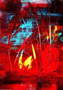 Bass, Licht, Gras, Abstrakt