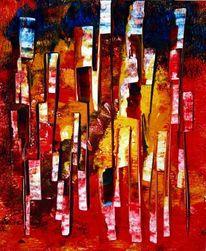 Abstrakt, Linie, Kommunikation, Rot