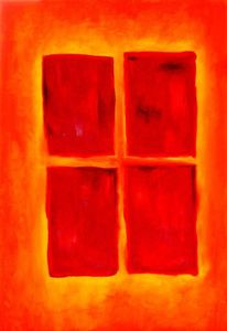 Orange, Fenster, Licht, Lichtblick