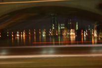 Nacht, Berlin, Oberbaum, Brücke