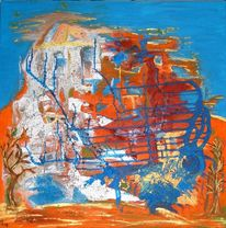 Aralsee, Acrylmalerei, Malerei, Abstrakt